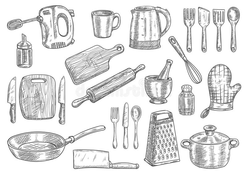 Mixer Kitchen Cutlery Isolated Icon Stock Vector