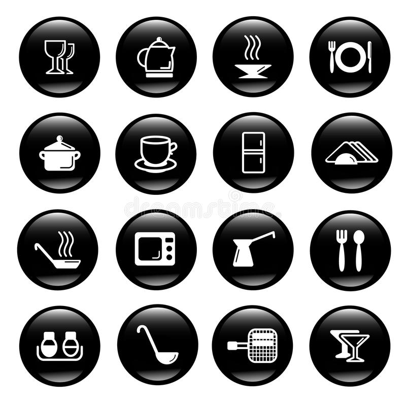 Download Kitchen Utensils Icons Royalty Free Stock Photo - Image: 9840735