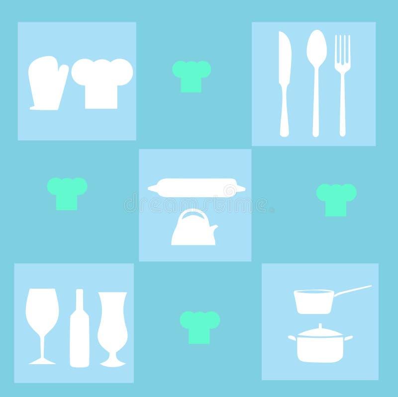 Download Kitchen utensils stock illustration. Image of food, knife - 32044167