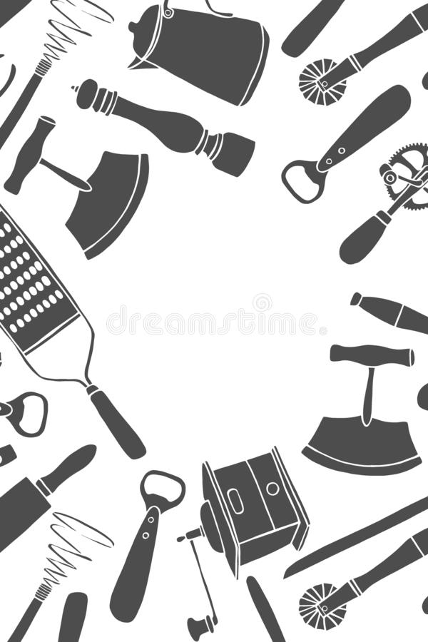 Kitchen utensils set. vector illustration
