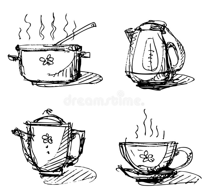 Kitchen Utensils Stock Vector Illustration Of Cook Coffee 50302974