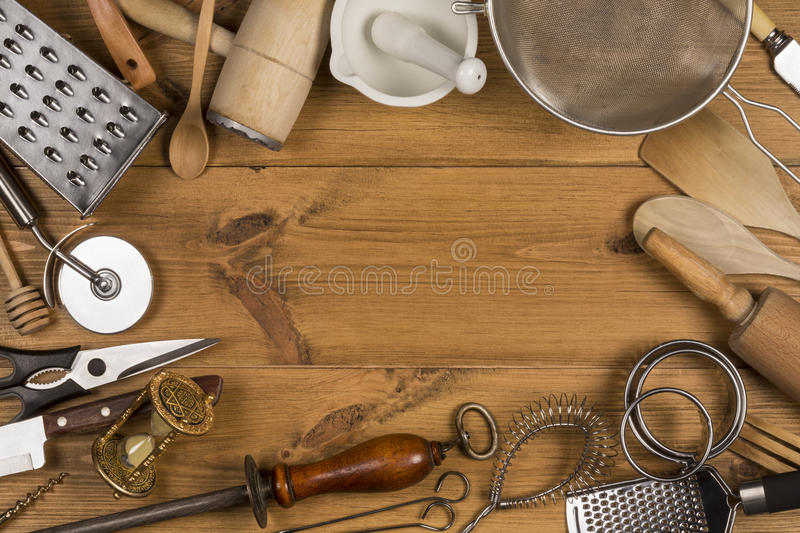 Kitchen Utensils - Space for Text royalty free stock photo