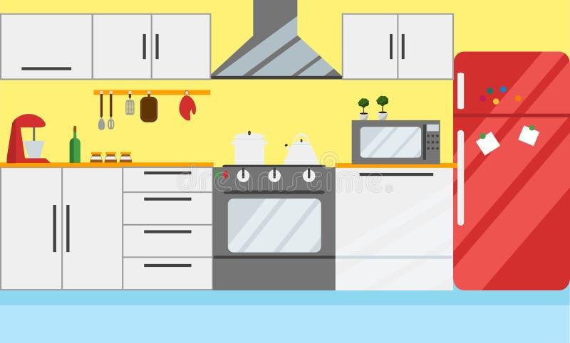 Download Kitchen Vector Illustration Flat Design Stock