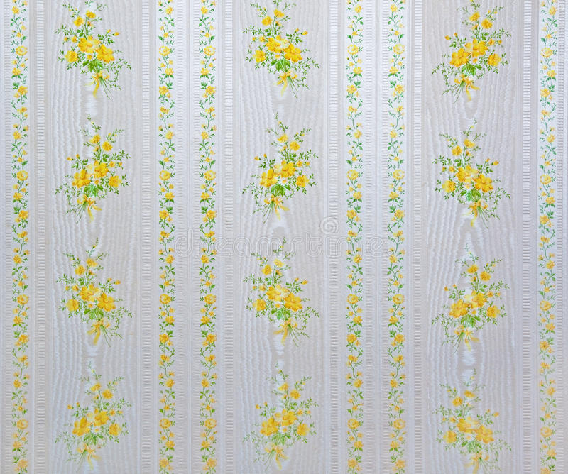 Kitchen wallpaper. From the 1970s royalty free stock photo