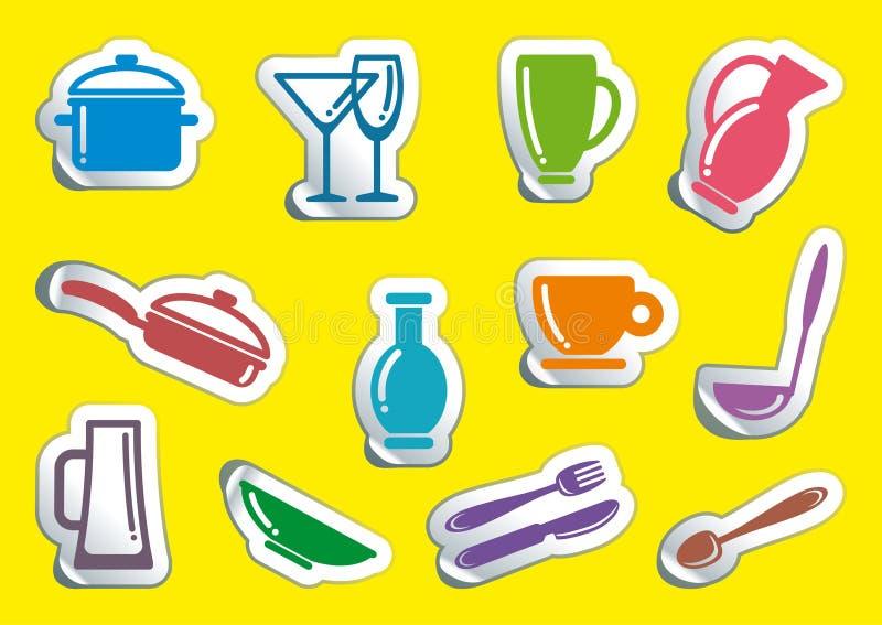 Download Kitchen ware stock vector. Image of food, eating, illustration - 16972168
