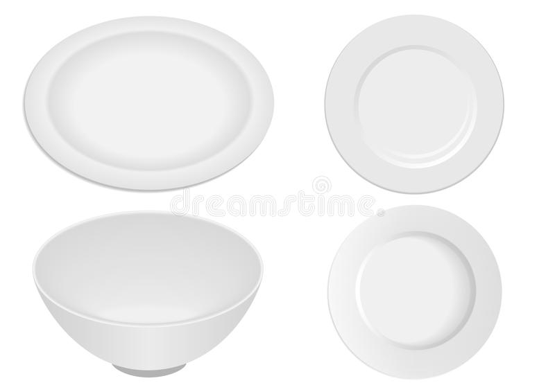 Kitchen ware elements isolated stock illustration
