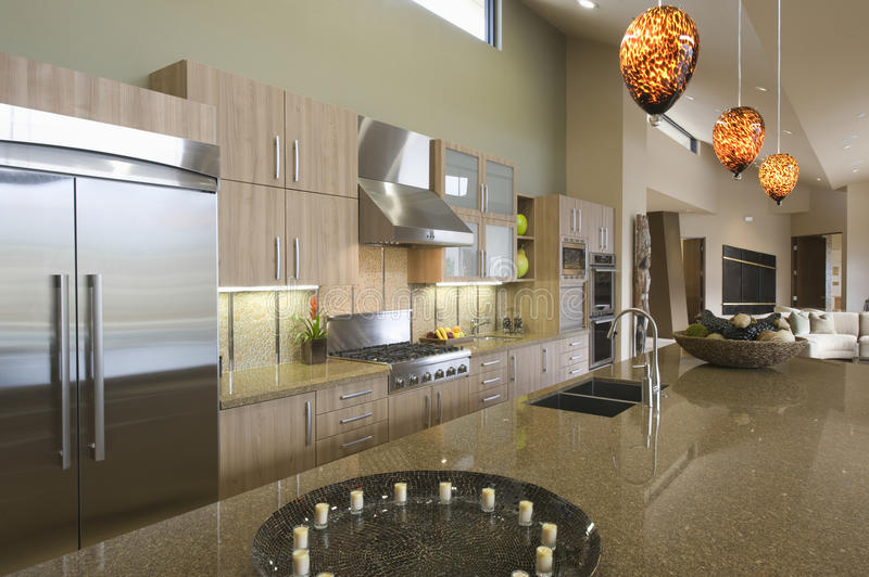 Download Kitchen Worktop Unit At Home Stock Photo - Image: 33906962