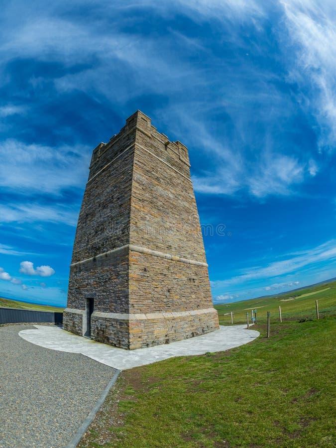 Kitchener-Denkmal, Orkney lizenzfreies stockbild
