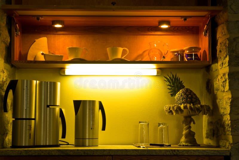 Kitchenette acolhedor   fotos de stock