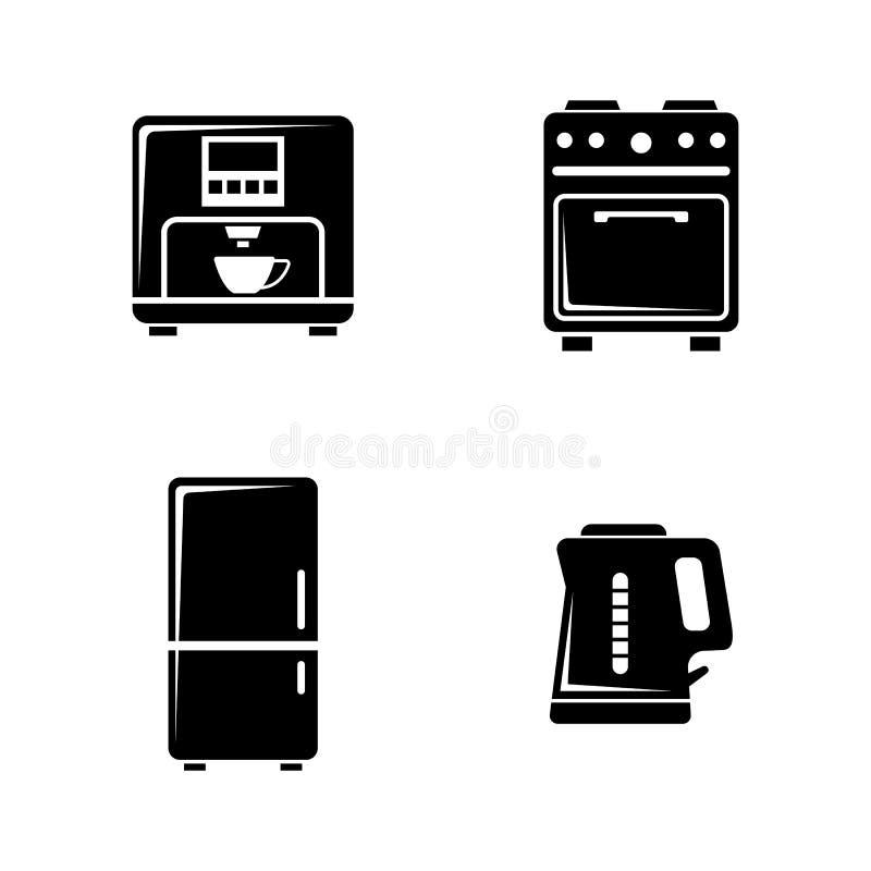 kitchenware Απλά σχετικά διανυσματικά εικονίδια ελεύθερη απεικόνιση δικαιώματος