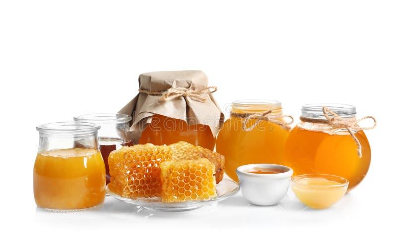 Kitchenware с очень вкусным медом стоковые фото