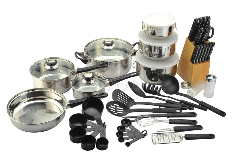 Download Kitchenware Stock Photo. Image Of Chrome, Culinary, Many   12288826