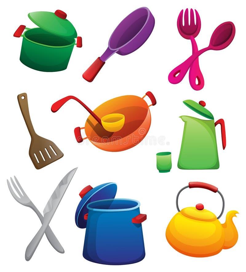 kitchenware illustrazione vettoriale