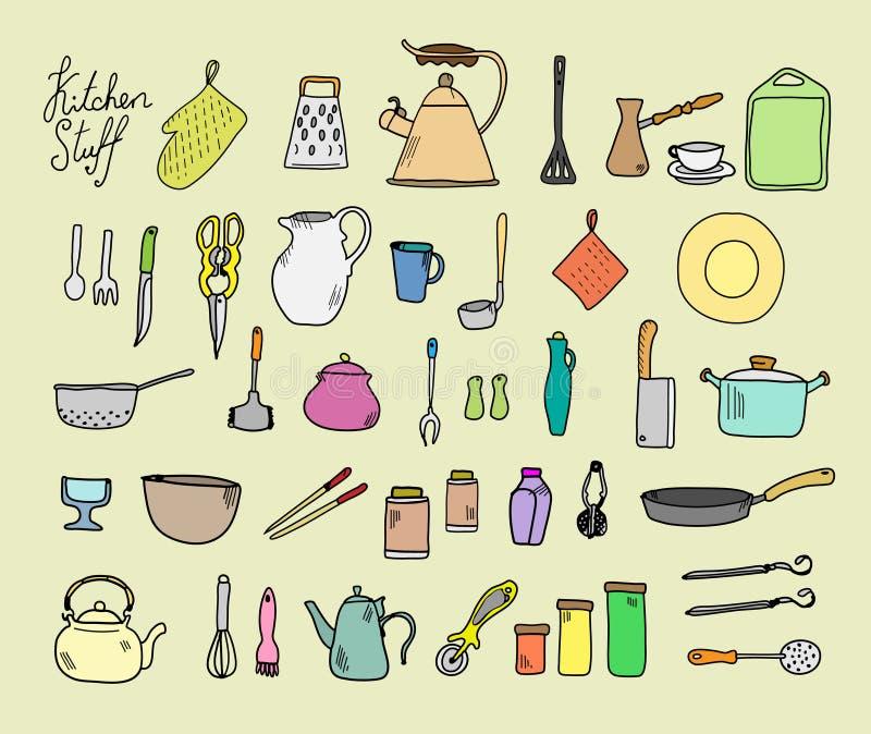 kitchenware illustration stock