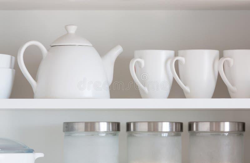 Kitchenware branco fotos de stock royalty free