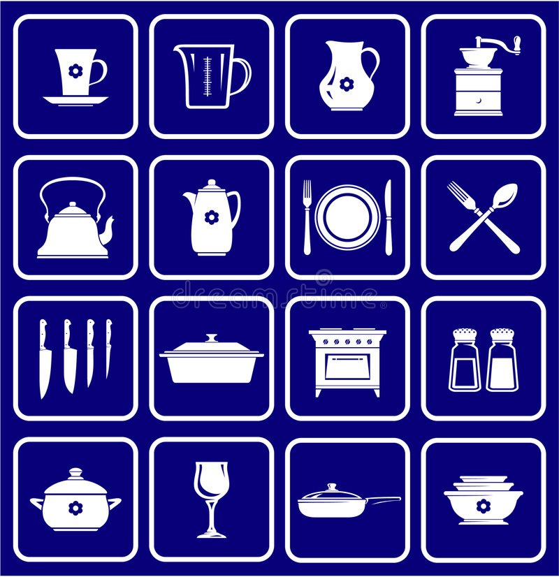 Free Kitchenware Icons 01 Royalty Free Stock Images - 3478289