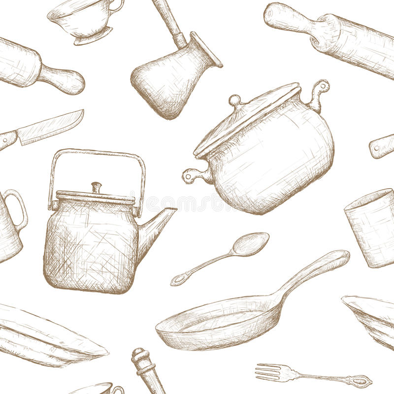 kitchenware Illustration courante illustration stock