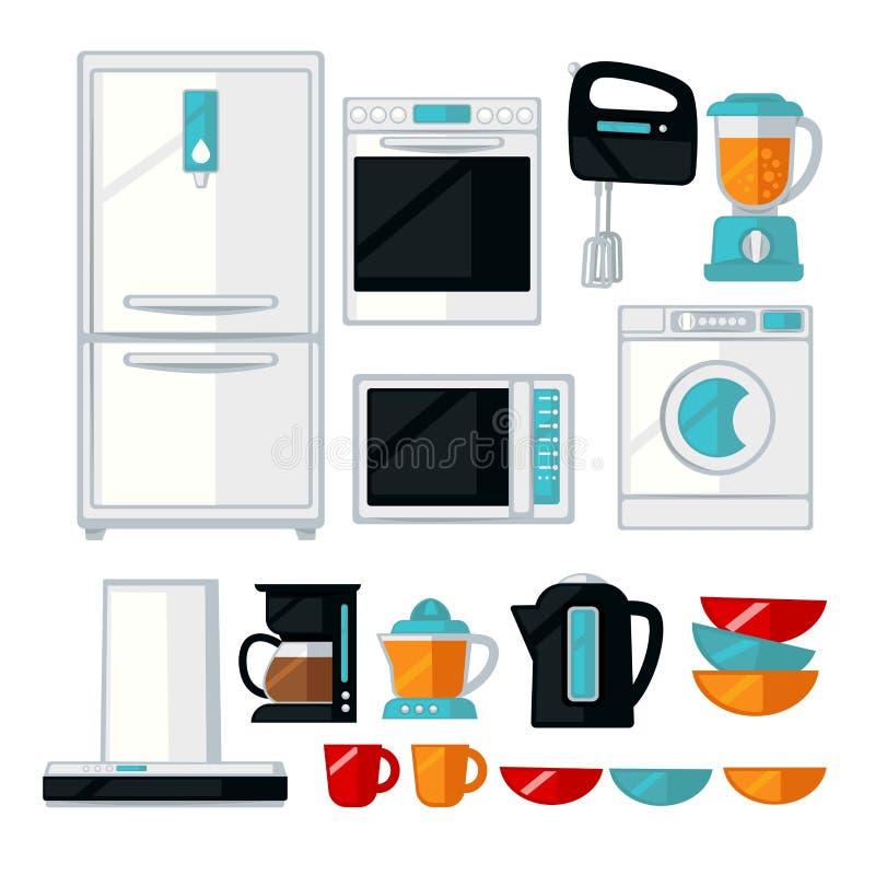 Kitchenware and kitchen equipment assortment vector illustration