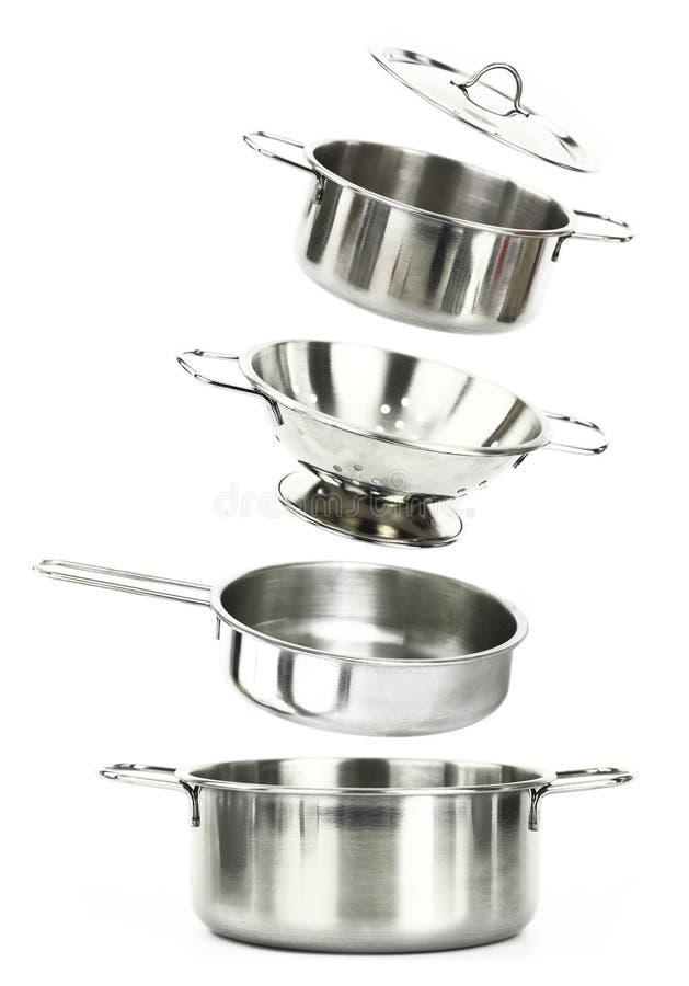 kitchenwarerostfritt stål arkivfoton