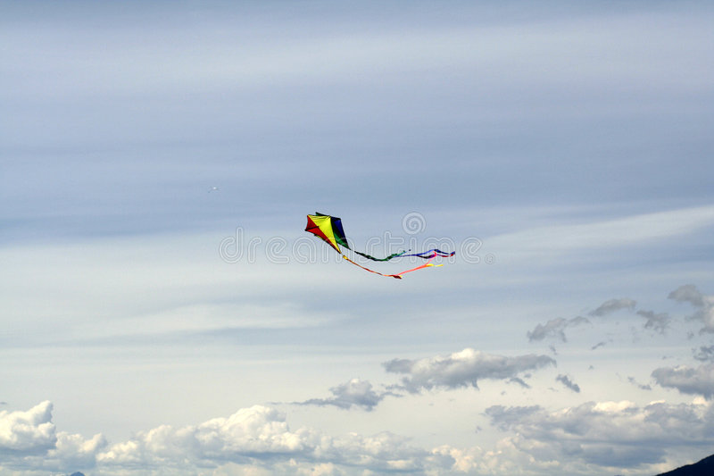 Download Kite stock photo. Image of high, light, flying, hight, clouds - 152448