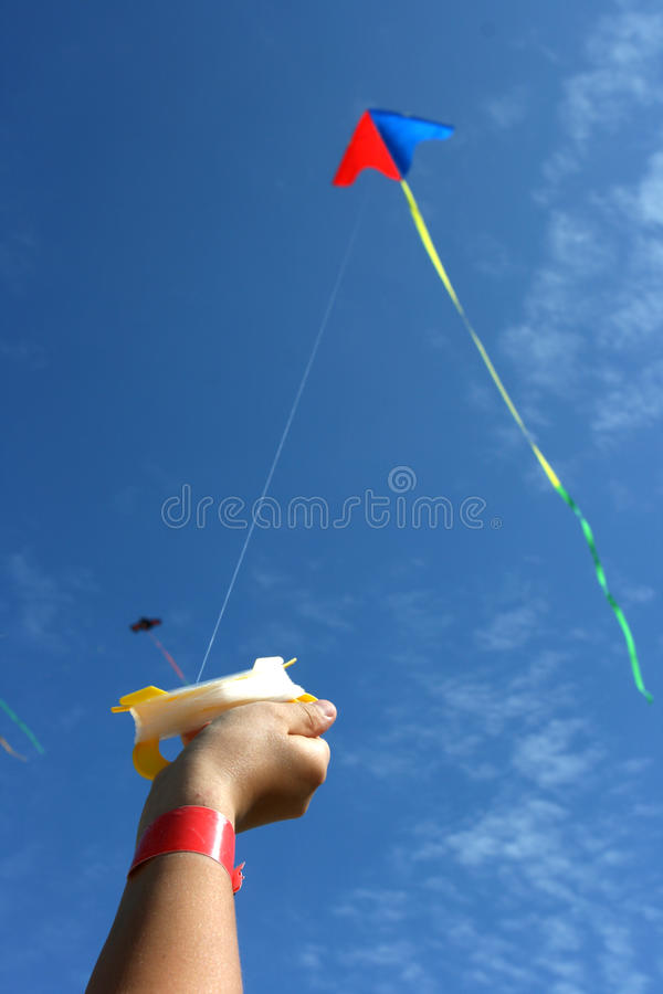 Download Kite stock image. Image of girls, flying, summer, field - 21341373