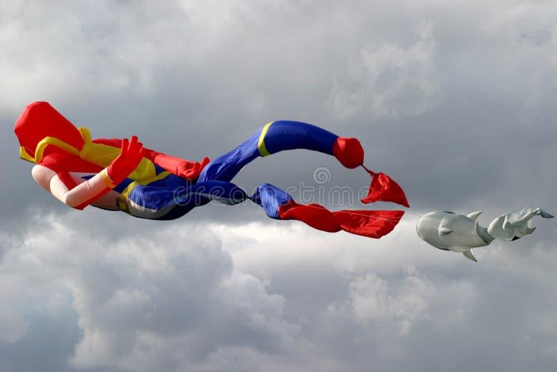 Download Kite stock image. Image of clouds, diver, flight, string - 24801