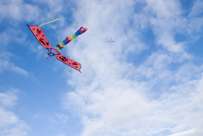Kite. Against cloudy sky, Philippines royalty free stock photography