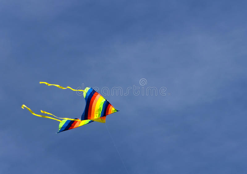 A Kite. Palermo - A kite flyng at foro italico stock images
