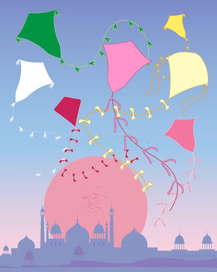 Kite abstract royalty free illustration