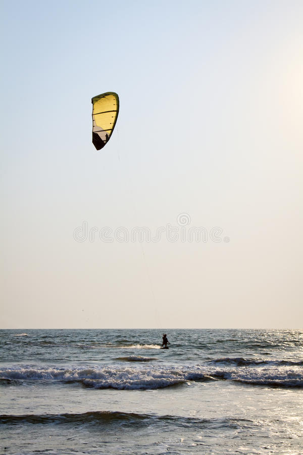 Download Kiteboarder Enjoy Surfing In The Sea Stock Photo - Image: 30162304