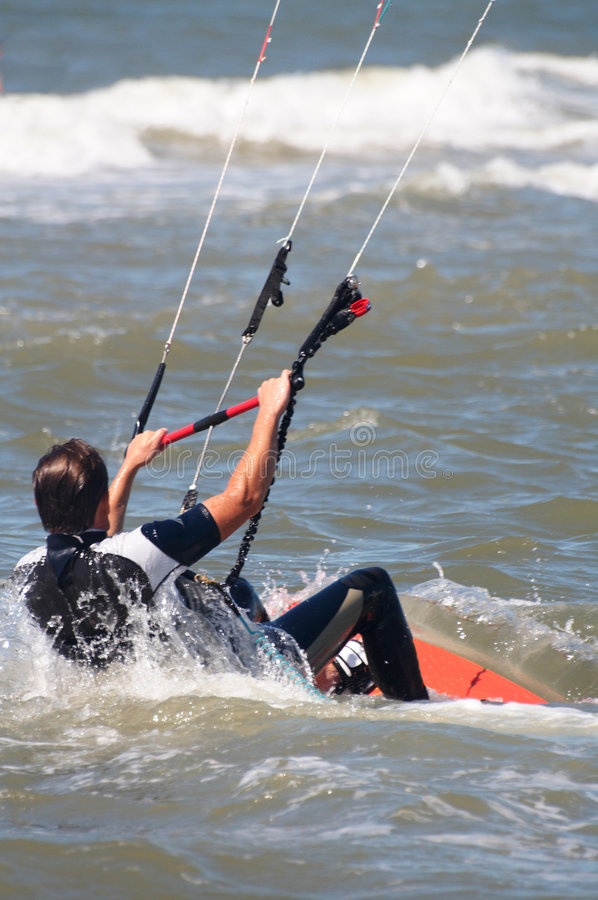 Download Kite boarder at sea stock image. Image of nature, kite - 3014601
