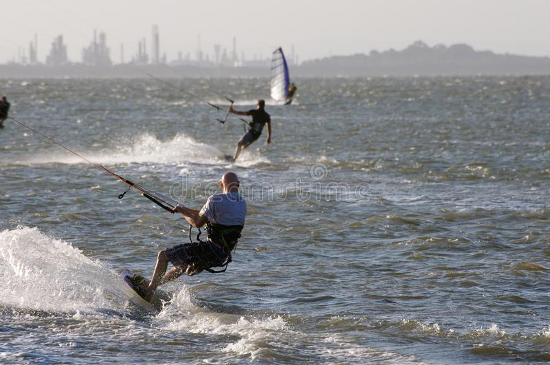 Kite boarder stock images