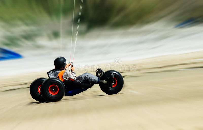 Download Kite buggy stock photo. Image of sunny, powered, male - 6104588