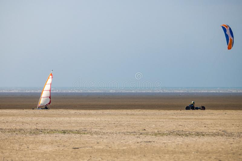 Kite Buggy on the beach stock photography