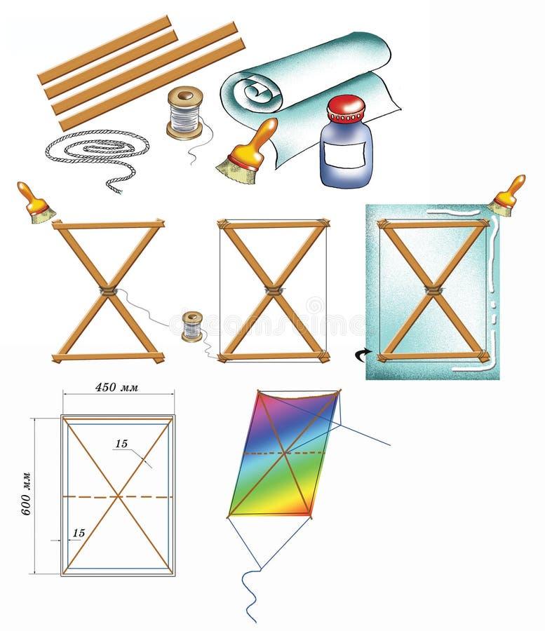 Kite do-it-himself illustration stock illustration