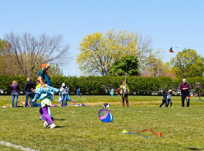 Kite Festival Participants stock images