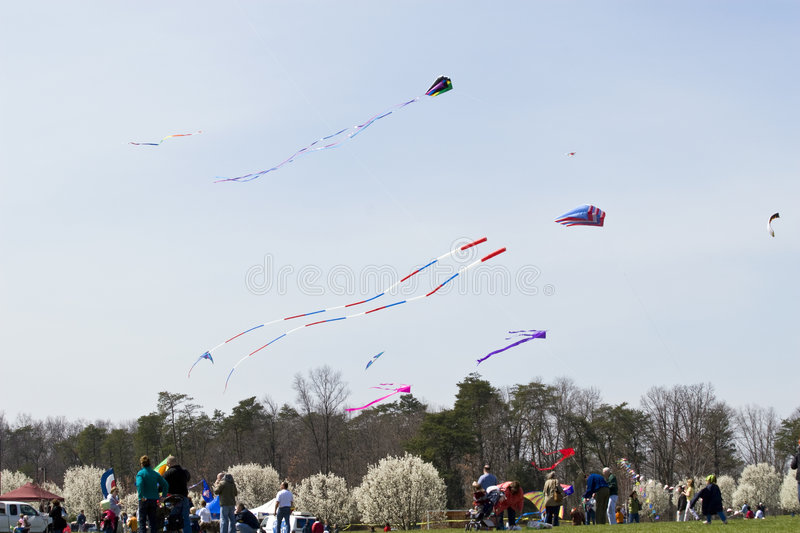 Download Kite Flying Frenzy editorial photo. Image of enjoyment - 4826676