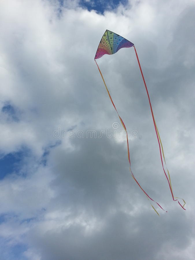 Kite Flying High on a Hot Day royalty free stock photo