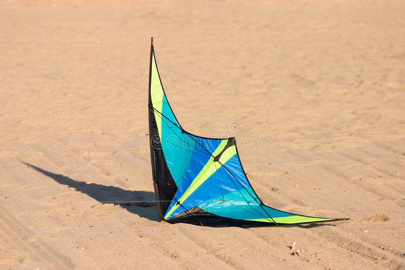 Download Kite on Ground stock photo. Image of down, fall, wind, sand - 457566