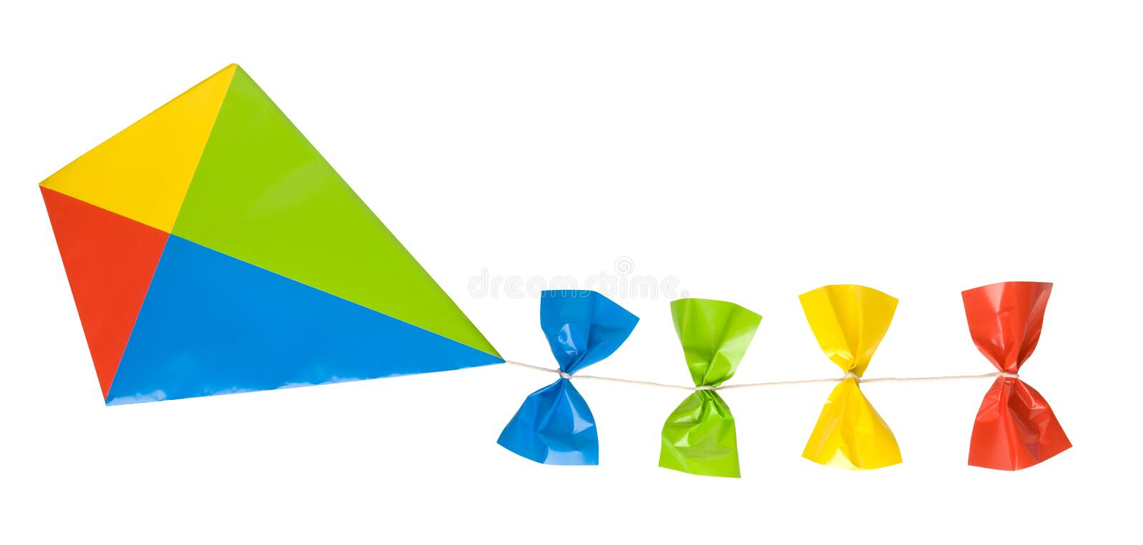 Kite Isolated On White Royalty Free Stock Image
