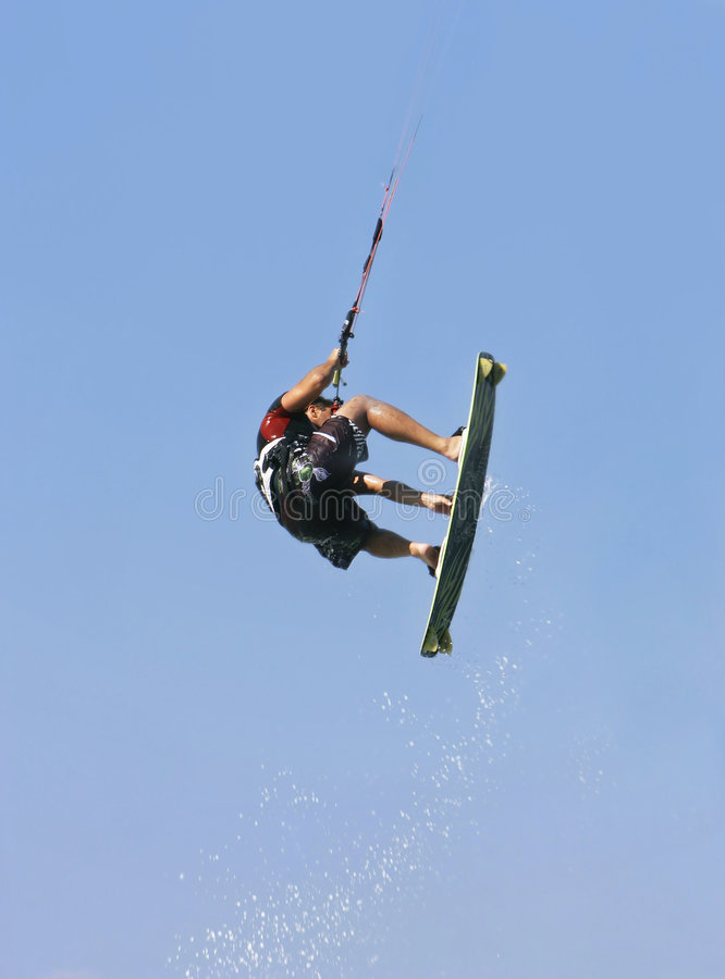 Download Kite jumper in action stock photo. Image of extreme, blue - 5595518