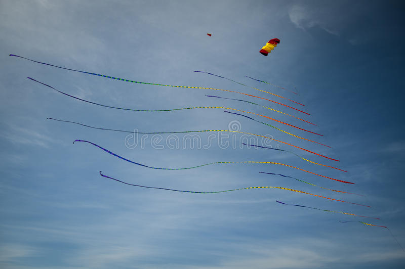 Download Kite with many tails stock photo. Image of outdoors, blue - 30228254