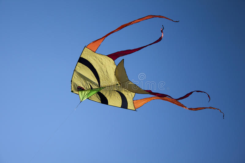 Download Kite in blue sky stock image. Image of recreation, hobbies - 21918601