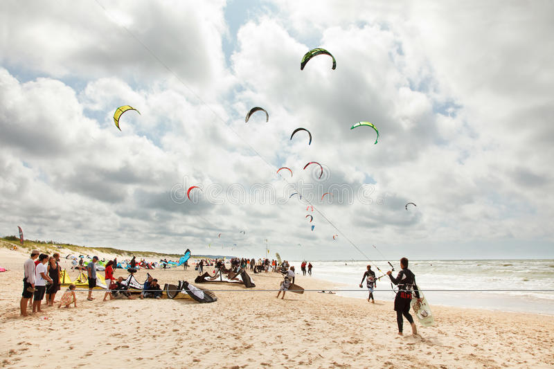 Kite party stock photography