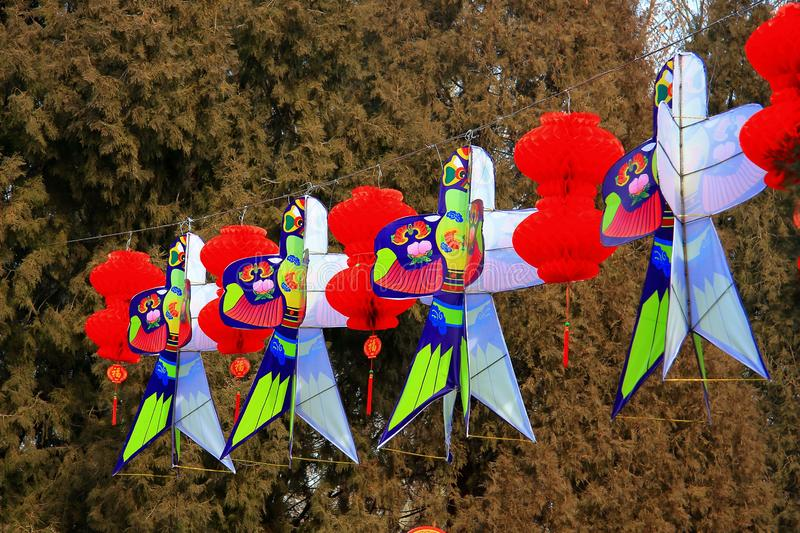 Chinese Spring Festival with Lantern kite stock images