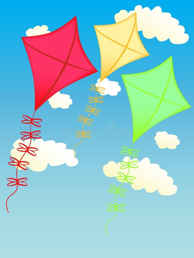 Kite on the sky royalty free stock photos