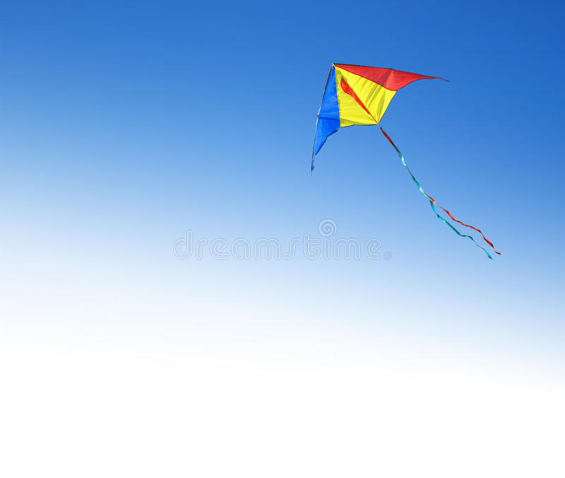 Kite in the sky. Kite flying in the sky royalty free stock photography