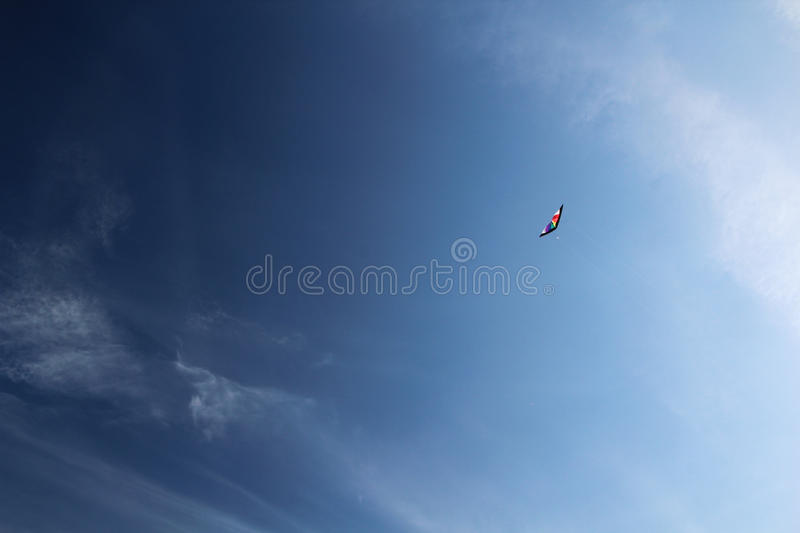 A kite at the Sola beach near Stavanger, Norway. Flying kite at the Sola beach near Stavanger, Norway stock image