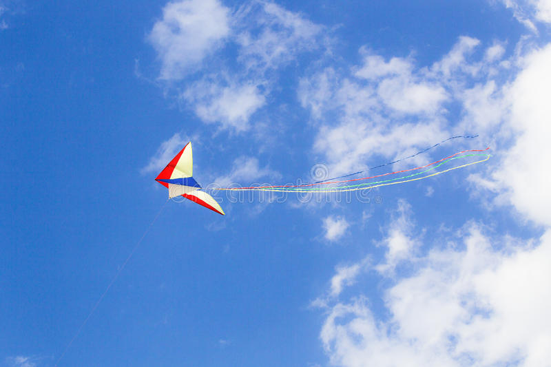 Kite with streamers royalty free stock photos
