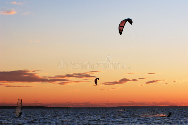Kite surf competition royalty free stock photos